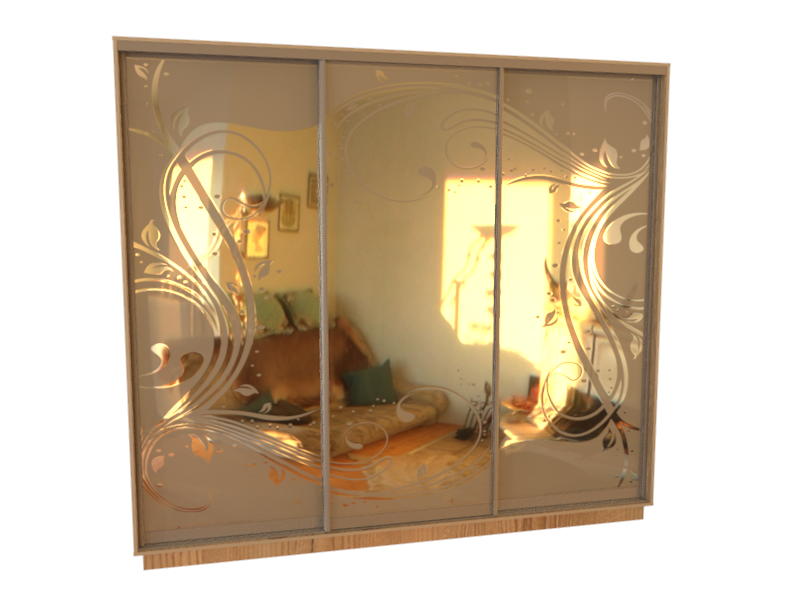 фасадных рисунок шкаф купе зеркало птицы фото выступает разных странах